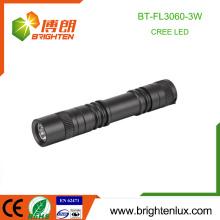 Fabrik-Versorgungsmaterial-nach Maß Aluminium 1 * aa Batterie betriebene 3watt Tasche kleine leistungsfähige MiniCree geführte Taschenlampe