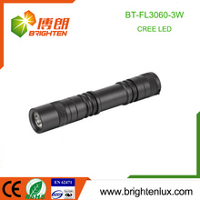 Factory Supply Custom Made Aluminium 1 * aa batterie actionnée 3watt Pocket Small Powerful Mini Cree led Flashlight
