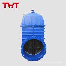 Válvula de compuerta de vástago con asiento elástico de gran diámetro y gran diámetro resistente a la cuña