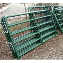 Сверхмощный горячий окунутый гальванизированный corral панелей / металл скот поля, фермы, ворота и забор для крупного рогатого скота овец лошадей