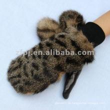 2012 neuester Leopard-Kunstpelz-Leder-Handschuh