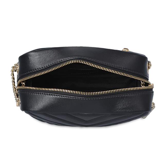 Leather Chain Strap Small Black Hand Bag Lady Cross Body Bag