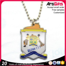 Promotion printing dog tags with chain