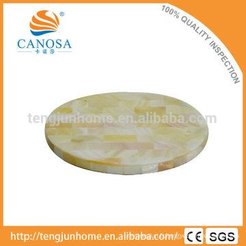 Tapis de coquille en eau douce en couleur naturelle pour la décoration de table