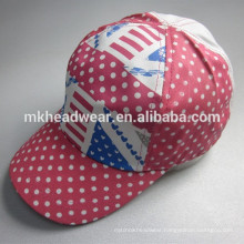 girl pretty five panels AOP cap and hat