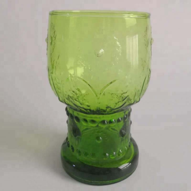 Br 8289pple Green Color Sunflower Glass Water Tumbler