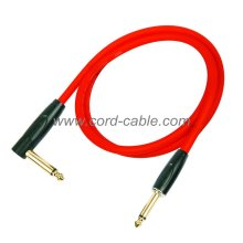 DFS Series Professional Instrument Guitar Cable Jack 90° to Jack Orange