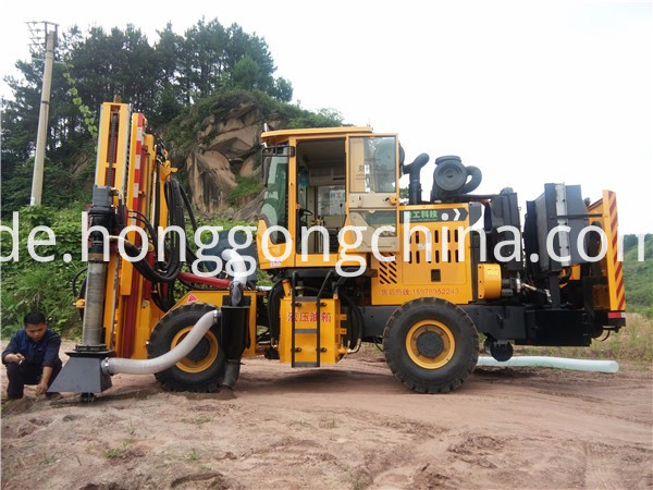 Guardrail Emergency Repair Wheel Pile Driver