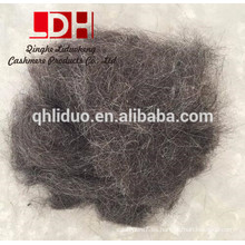 Alfombra de fibra de pelo de lana de cabra negra para fieltro