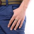 2017 Modeschmuck Einfache doppelte Farbe für immer Liebe Edelstahl Ring für Männer