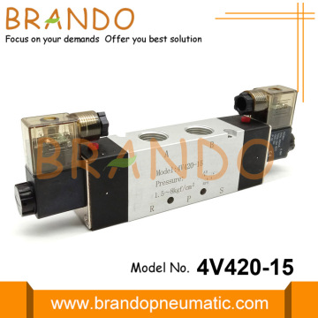 4V420-15 1/2 '' Pneumatic Solenoid Valve 5/2 Way 24VDC