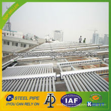 Tuyau en acier galvanisé pour projet d'eau chaude solaire
