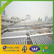 Tubo de aço galvanizado para projeto de água quente solar
