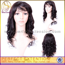 Accept Paypal With Hairline Spanish Wave Virgin Human Hair Wig Full Lace