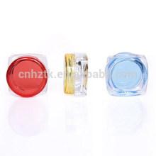 Garrafas plásticas dos cosméticos do frasco 3g, caixa de sombra para os olhos