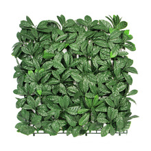 12 piezas 50 x 50 cm SUNWING venta al por mayor fresco PE uv pared verde artificial para uso al aire libre
