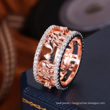 2018 new unique design rose gold plating wholesale ring settings without stones