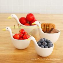 Ceramic Swan Model Set de 4 tasses de mesure