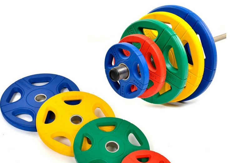 color barbell weight plate