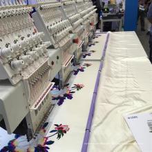 Producción en masa de la máquina de bordado comercial de la tapa Wy906c / Wy1206c