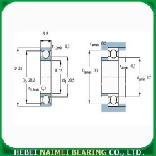 High Performance Small Bearing 6002