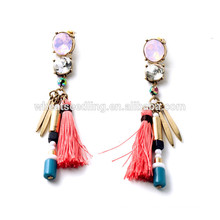 exaggerated personalized thread tassel latest model fashion earrings