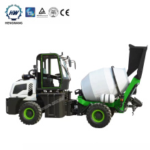 Low profile mobile truck mounted concrete pump with mixer