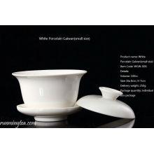 Branco Gaiwan cerâmica (tamanho pequeno)