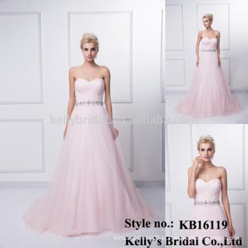 Uma rosa quente de rosa de rosa pregas no vestido de vestido A linha de linha KB16119