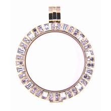 Porte-clés en plaqué or 18 carats pour collier pendentif ou bracelet