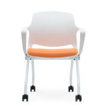 Elegant White Folding and Training Swivel Chair