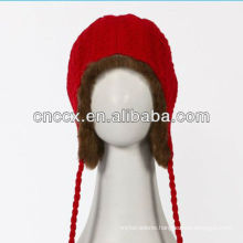 PK17ST338 ladies fashion bomber hat with warm fur inside
