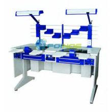 estação de trabalho dental (pessoa dupla) (equipamentos de laboratório dentário) (Modelo: AX-JT6) (CE aprovado)