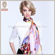 Wholsale muslim hijab 100 satin silk square scarf