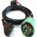 J1939 Tipo femenino Auto diagnóstico de montaje de cable OBD2