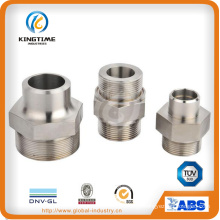 Stainless Steel Male Threaded Hexagon Drive Pipe Fitting Nipple (KT0412)