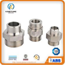 Из нержавеющей стали с наружной резьбой шестигранный Привод штуцер-ниппель (KT0412)