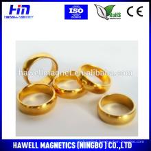 gold ring neodymium permanent magnet ROHS