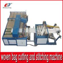 Machine automatique de coupe et de couture pour sac en tissu PP