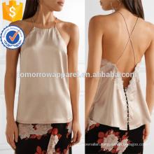 Lace-trimmed Silk-charmese Camisole Manufacture Wholesale Fashion Women Apparel (TA4094B)