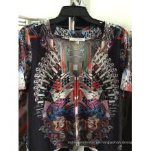 Vestido casual de moda para damas Impreso Silk-5