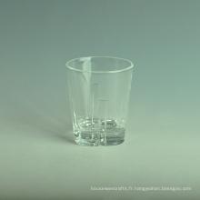 Gobelet en verre transparent en gros
