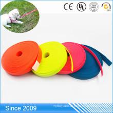 Dauerhafte weiche Polyester-Material-Leine PVC-überzogener flacher Polyester-Gurt für Pferdeführungs-Seil