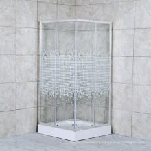Quadrat Tempered Transperant Glass Sliding Bathroom Shower Stall