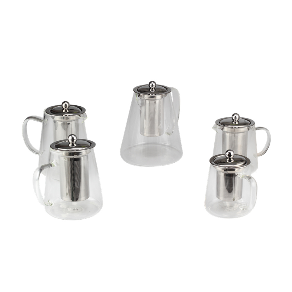 Hot Sell Professional Glass Tea Pot With Infuser