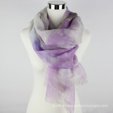 New design high quality linen 2016 scarf with hot silver