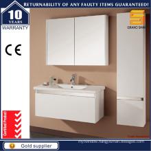 Modern MDF White Lacquer Bathroom Vanity Set