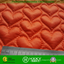 Heart Pattern Quilted Fabric for Women Winter Jacket