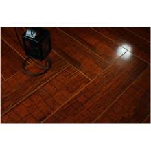 Plancher en stratifié absorbant le bruit commercial de noix de miroir de 12.3mm