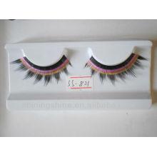 2016 hot design two color false fake fashion eyelashes extension